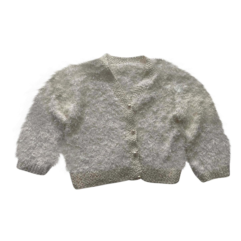 Crop top en laine et lurex