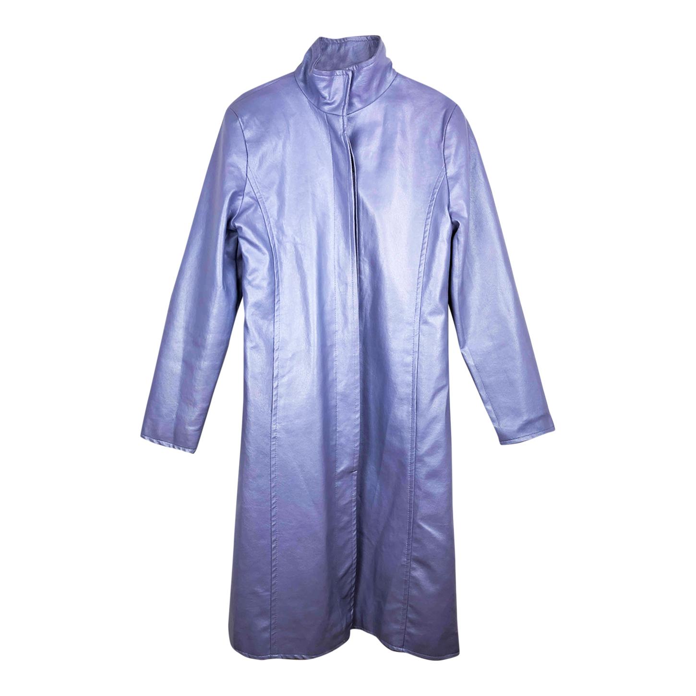Trench-coat en simili cuir