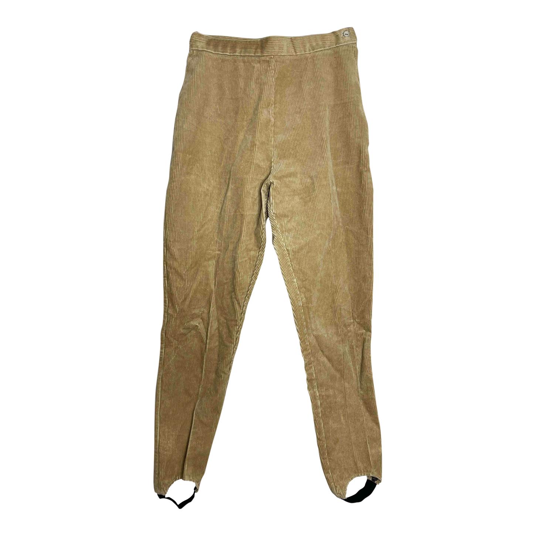 Pantalon fuseau en velours côtelé