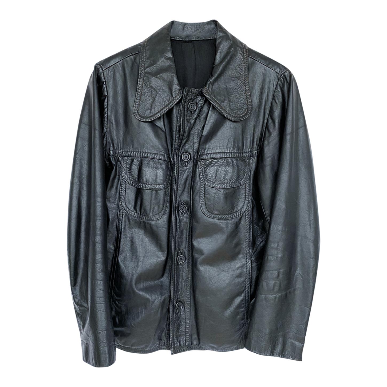 Veste courte en cuir