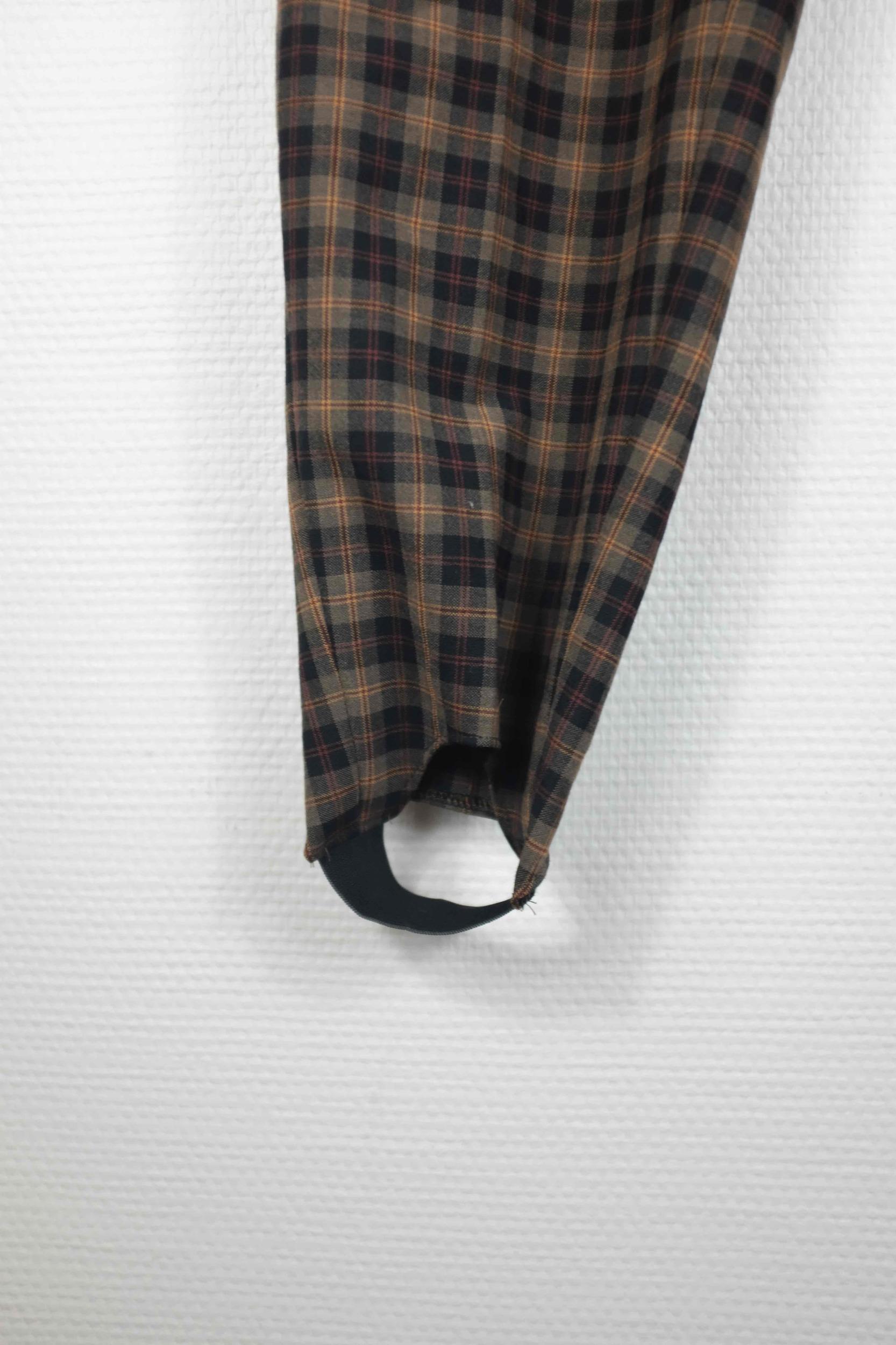 Pantalon fuseau à carreaux