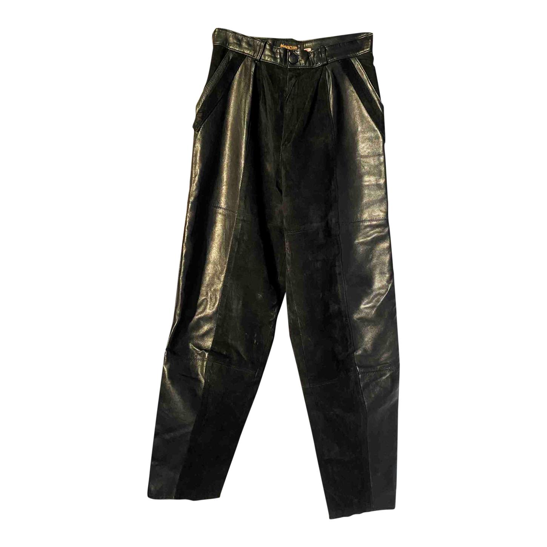 Pantalon en cuir et daim