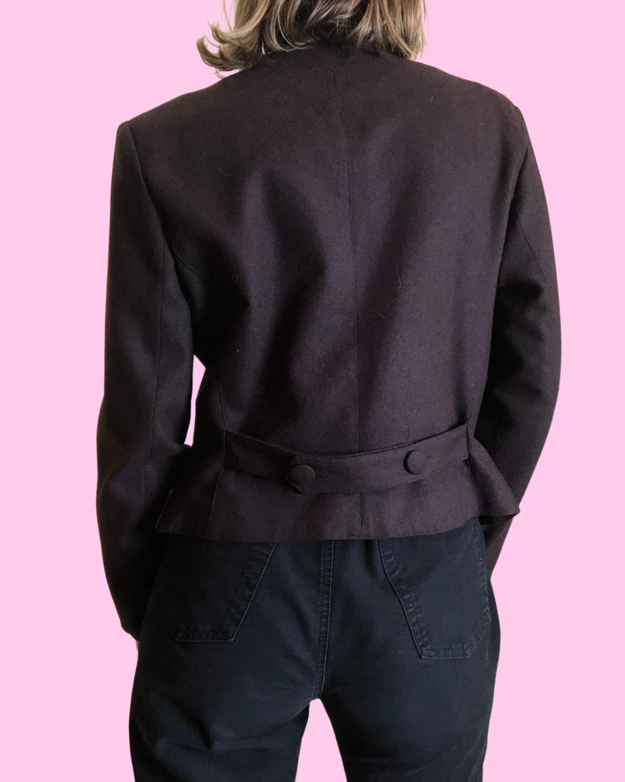 Veste courte en laine