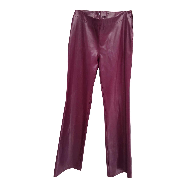 Pantalon en simili cuir 80's