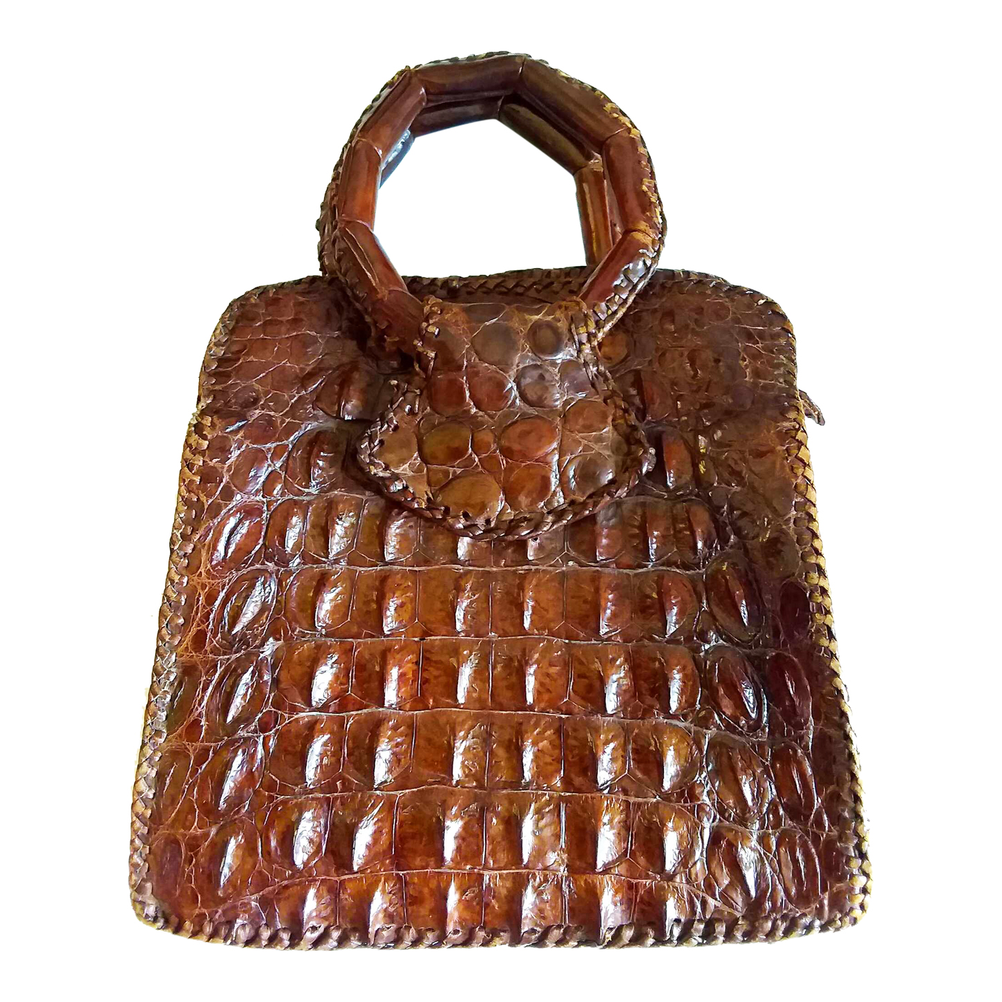 Mini sac en crocodile