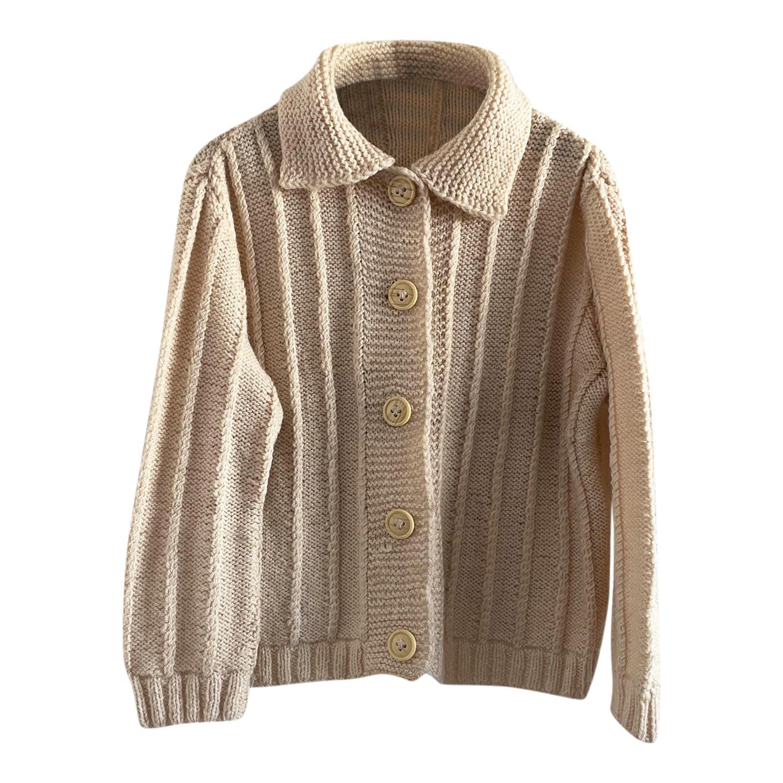 Cardigan court en laine