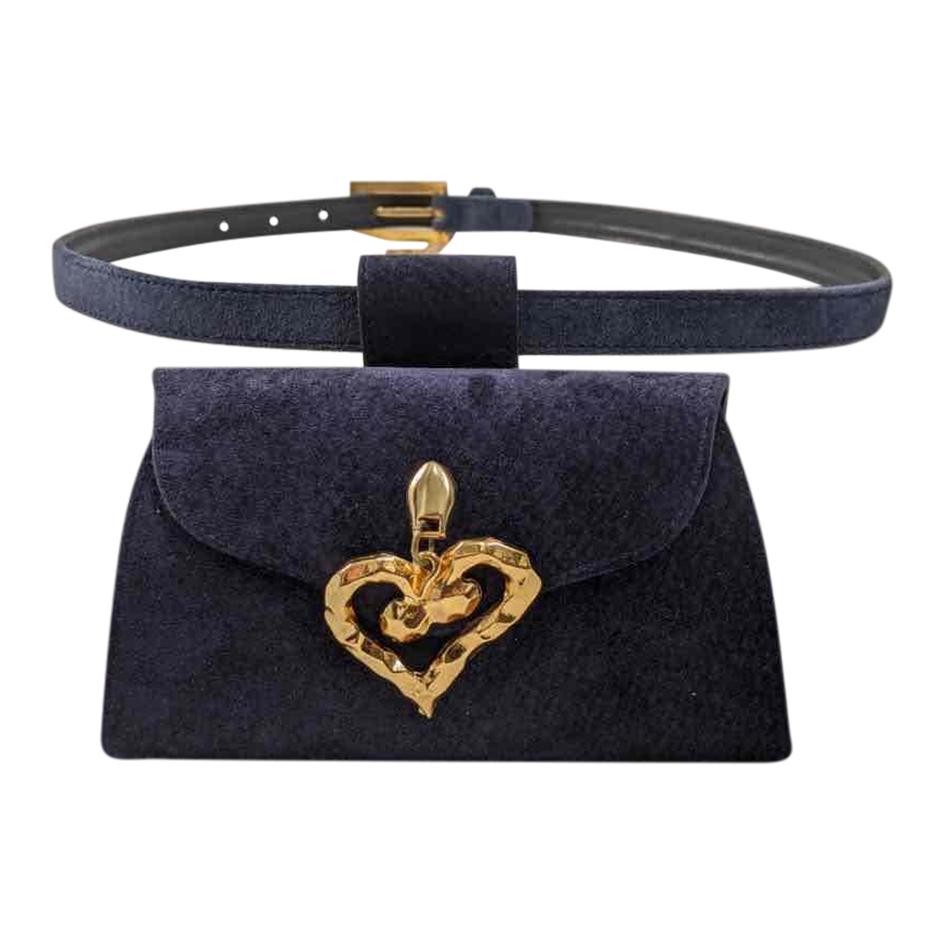 Mini sac ceinture en cuir