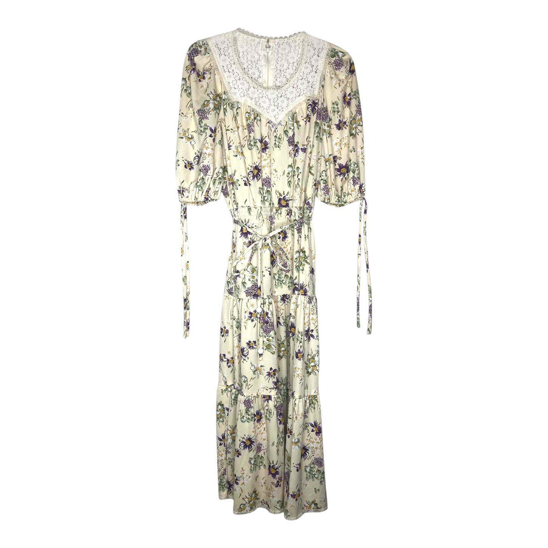Robe longue à fleurs 80s