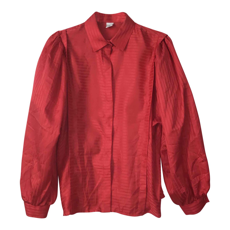 Chemise satinée à rayures