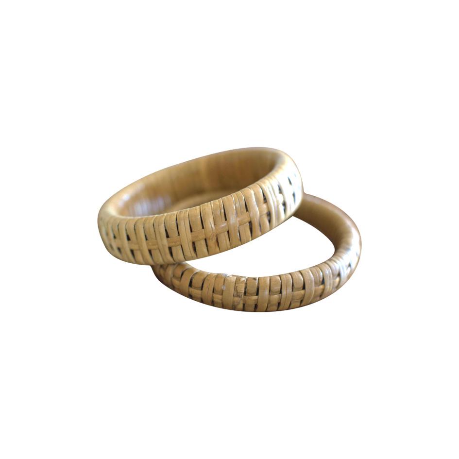 Bracelets en rotin