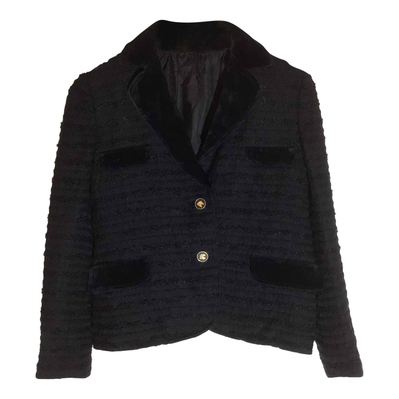 Veste courte laine et velours