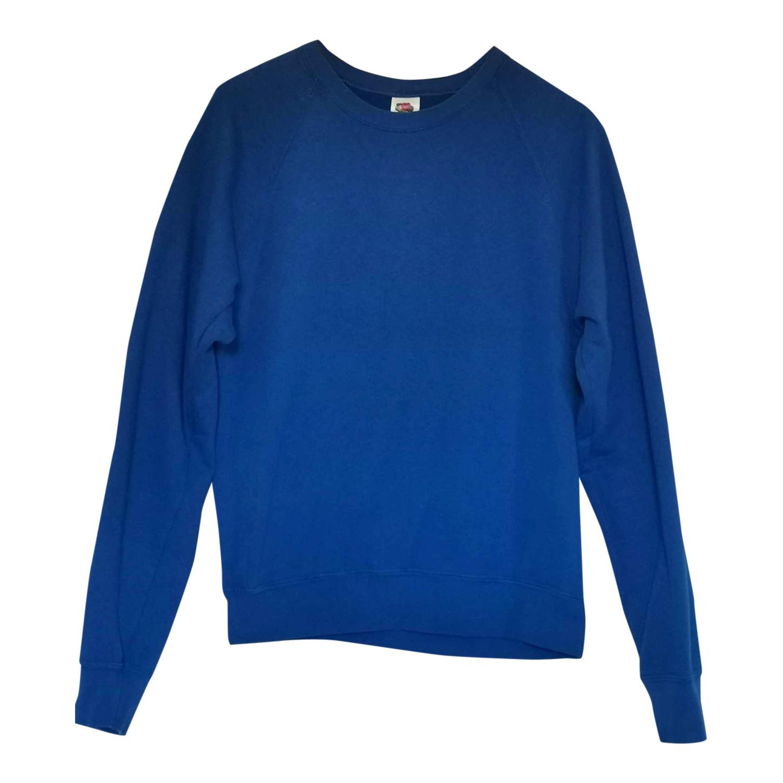 Sweat-shirt bleu 80s