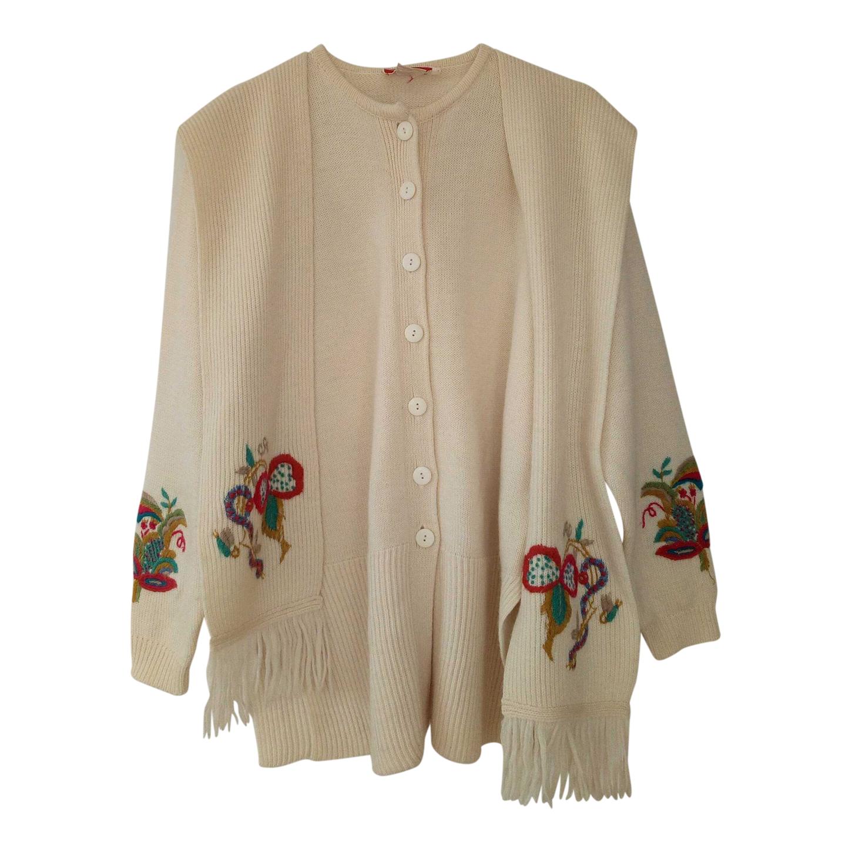Cardigan écharpe en laine