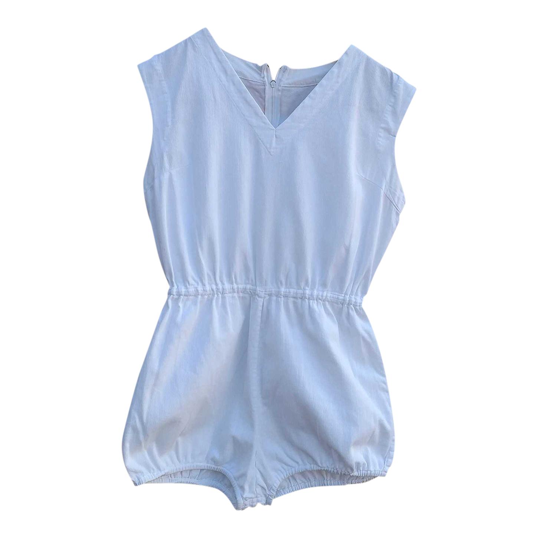 Combi-short en coton