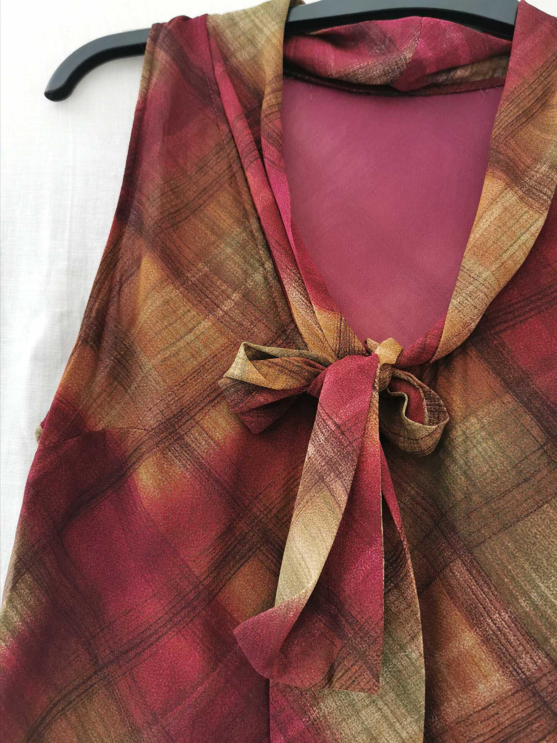 Robe longue à carreaux