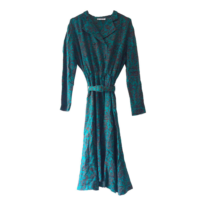 Robe en laine à motifs