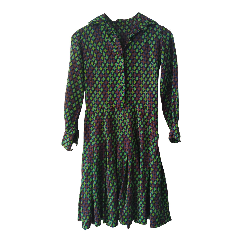 Robe en coton imprimé 70s