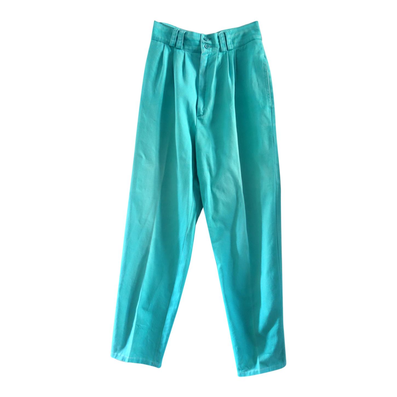 Pantalon à pinces turquoise