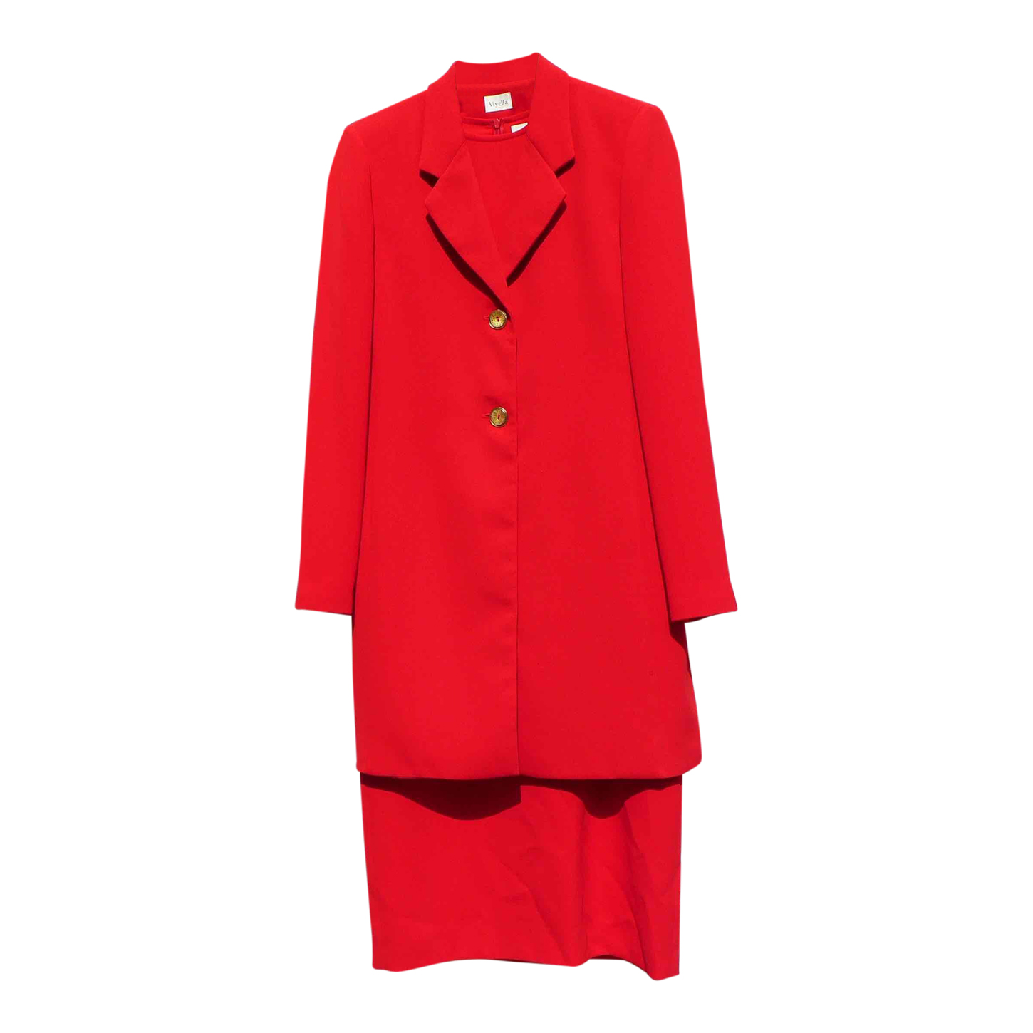 Tailleur robe rouge