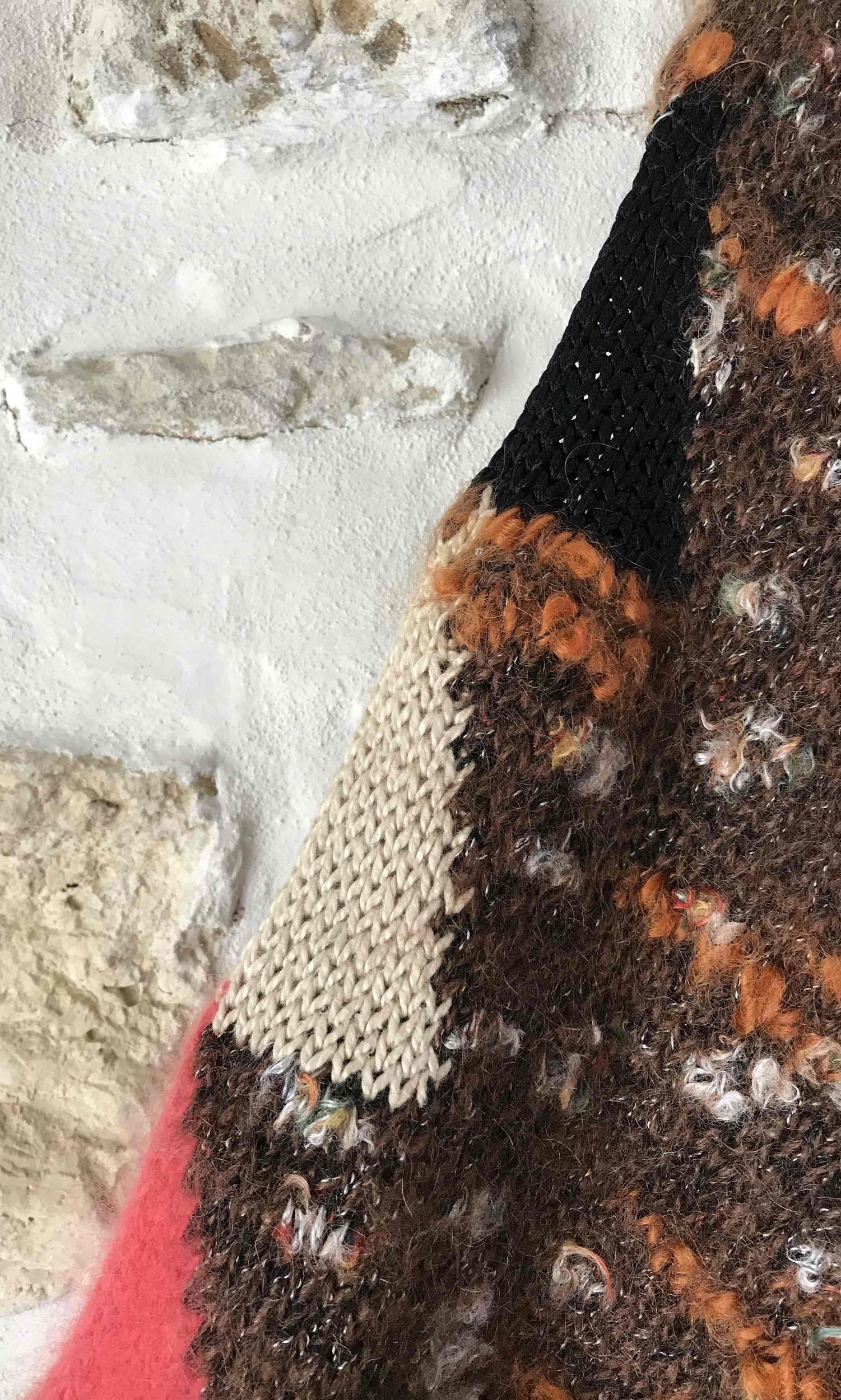 Pull court en laine et angora