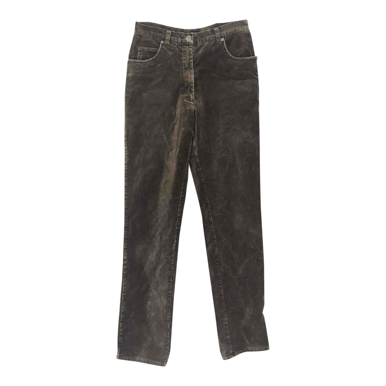 Pantalon taille haute en velours
