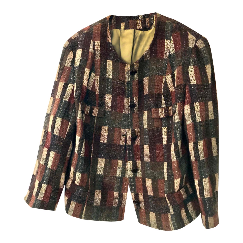 Veste en laine à motifs