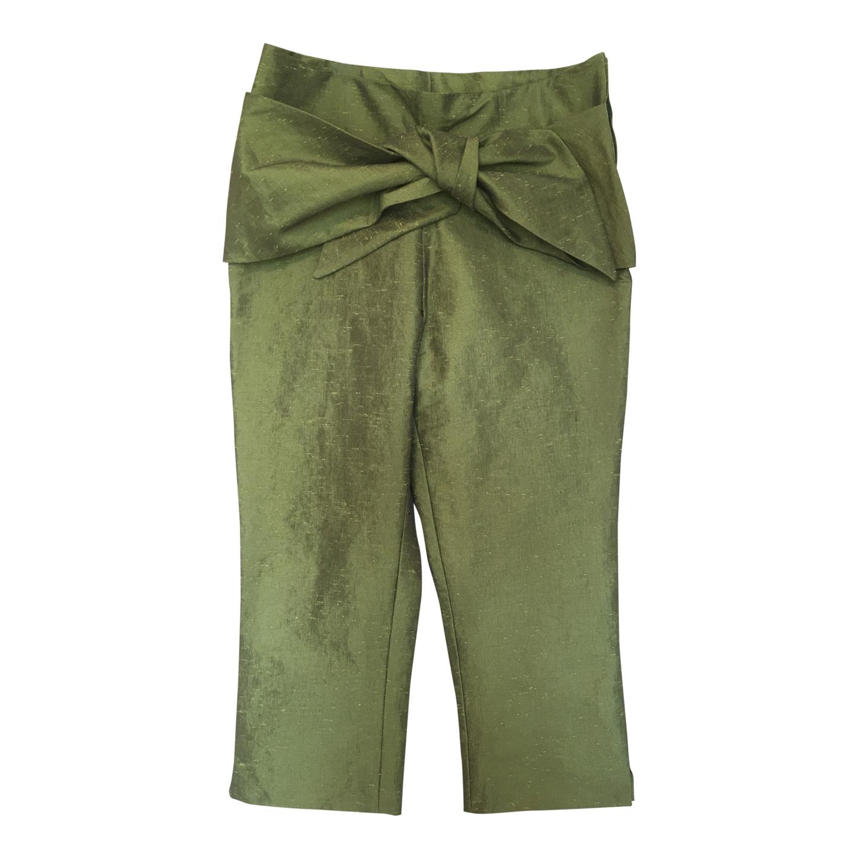 Pantalon court en soie