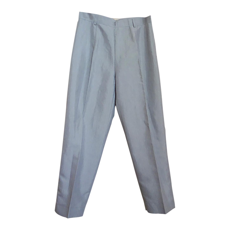 Pantalon à pinces satiné
