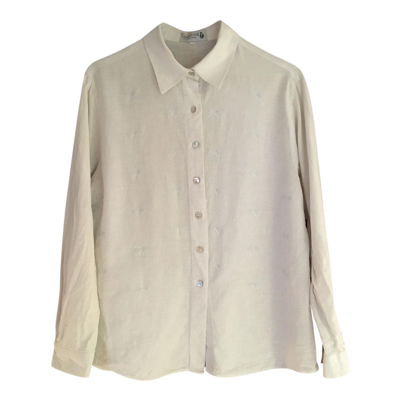 Chemise blanche brodée