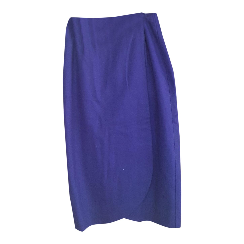 Jupe portefeuille violette