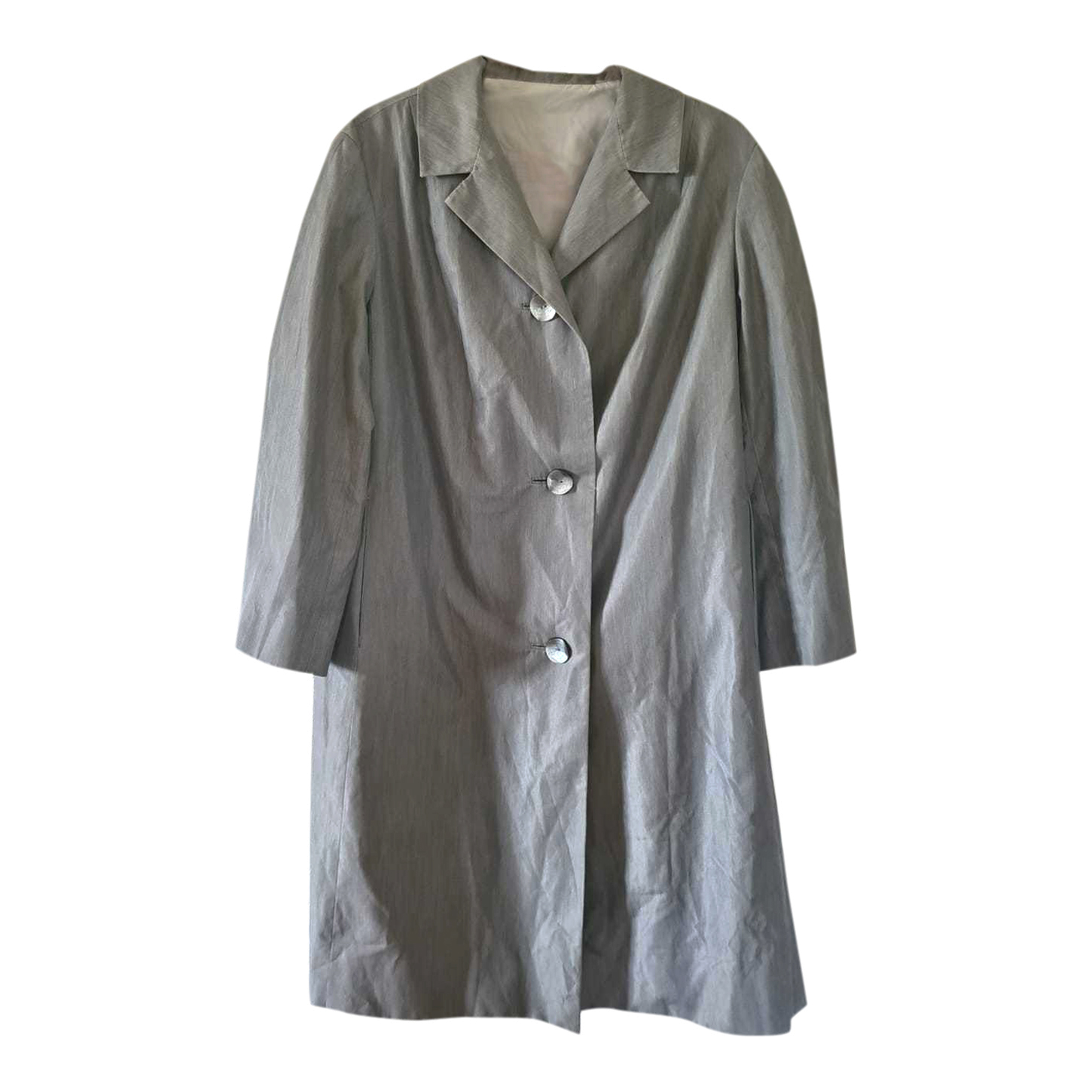 Trench gris 80s