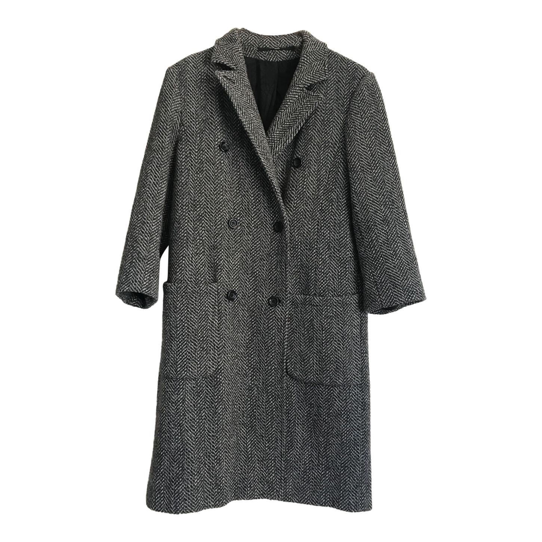 Manteau long à chevrons