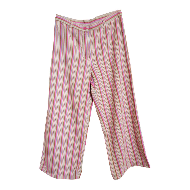 Pantalon court à rayures