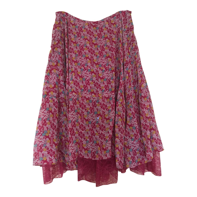 Jupe à fleurs en soie