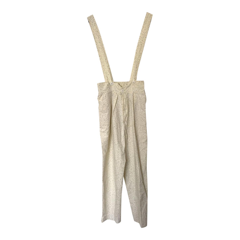 Pantalon à bretelles en coton