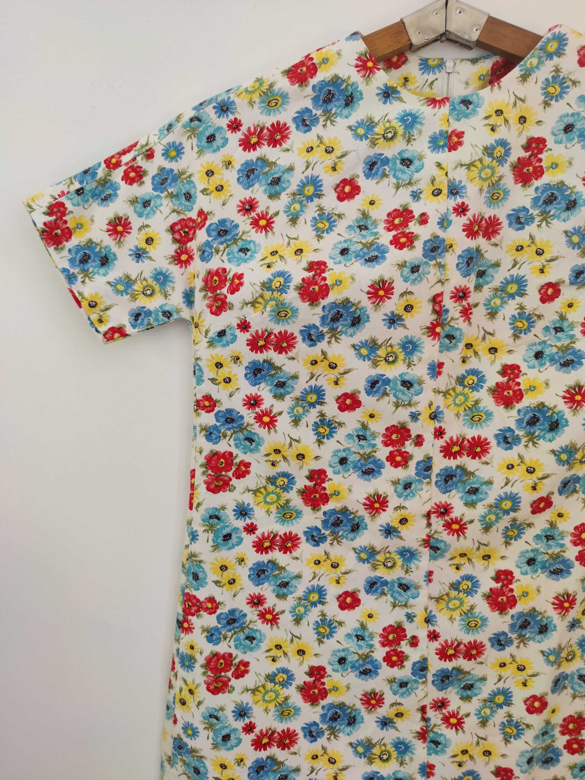 Robe trapèze à fleurs