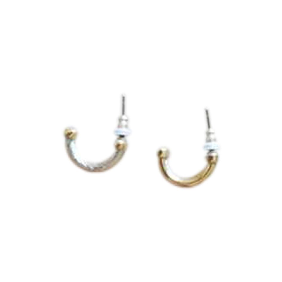 Boucles d'oreilles dorées et argentées