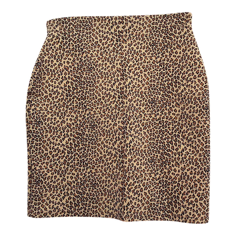 Jupe crayon léopard