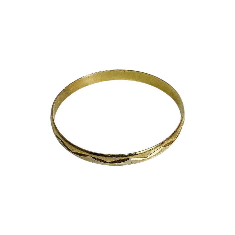 Bracelet jonc doré