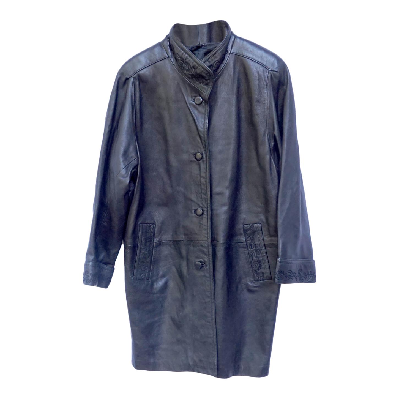 Manteau en cuir 80s
