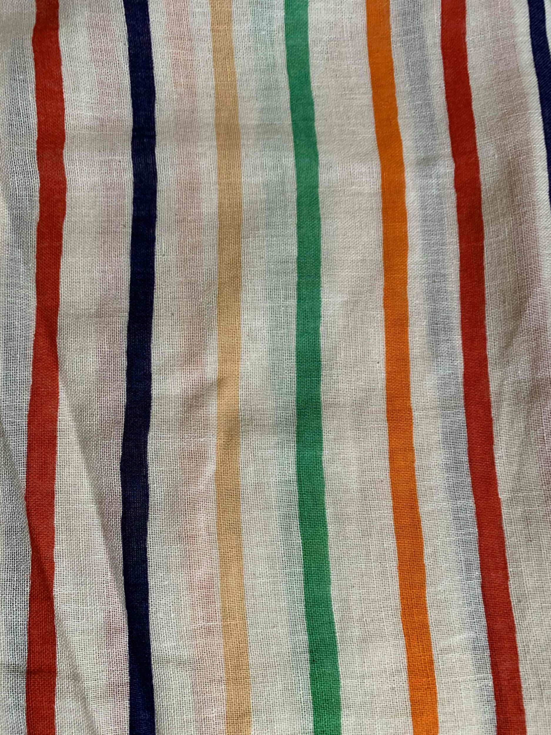 Blouse à rayures multicolores