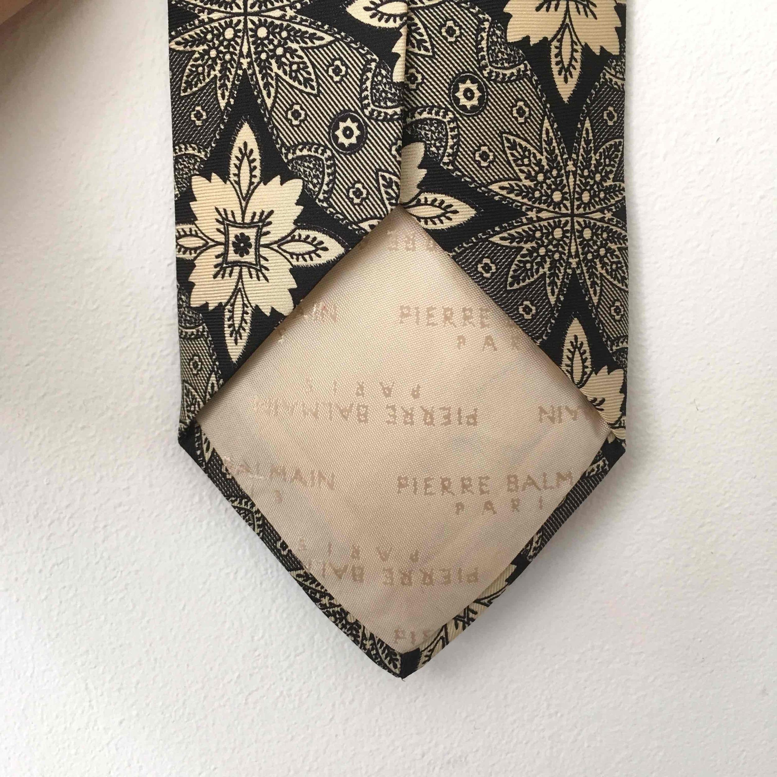 Cravate en soie Balmain