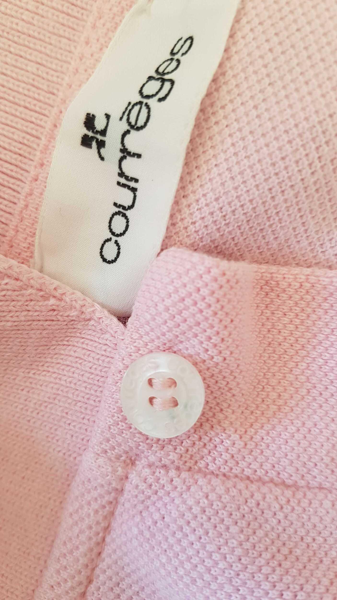 Polo Courrèges en coton