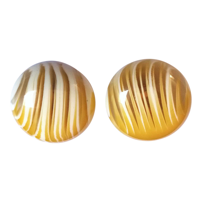 Boucles d'oreilles en bakélite