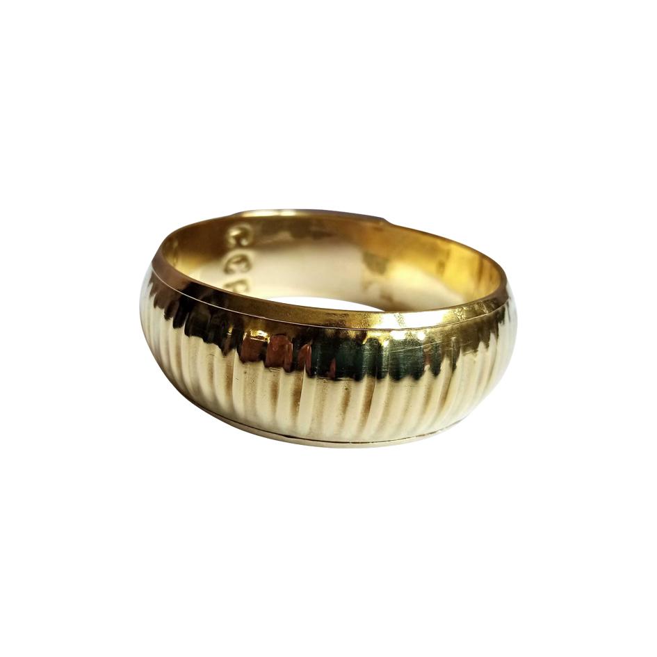 Bracelet jonc en laiton doré