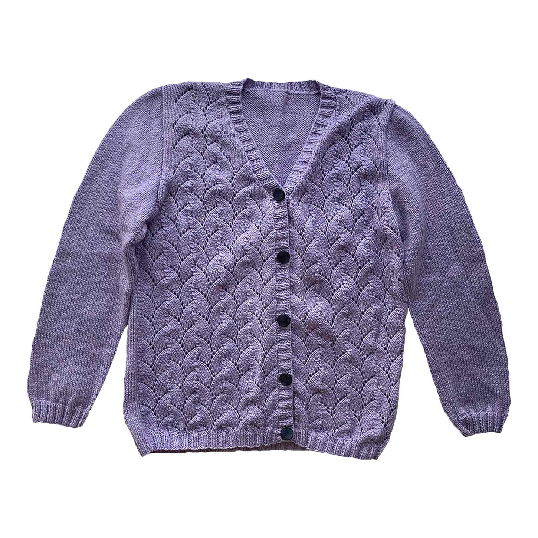 Cardigan en laine ajourée