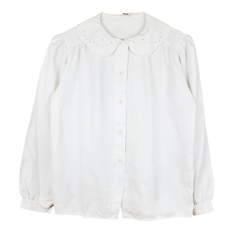 Chemise à col brodé