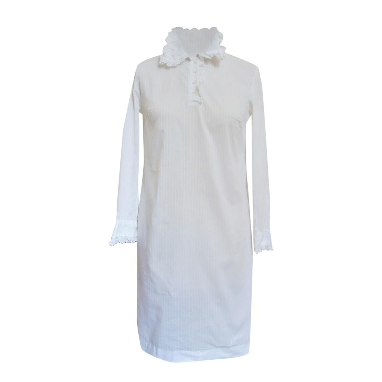 Chemise de nuit en coton et dentelle