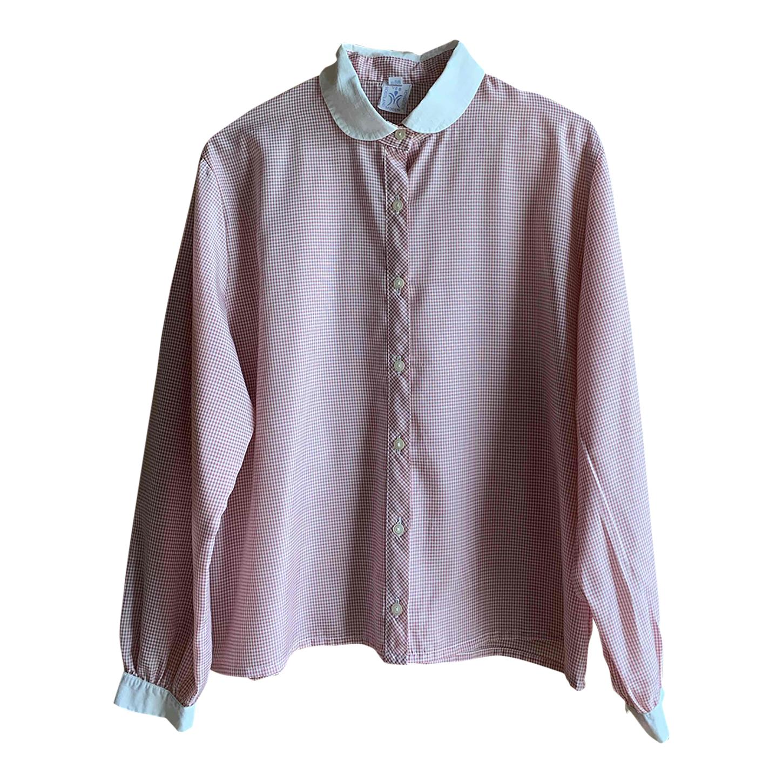 Chemise vichy à col claudine