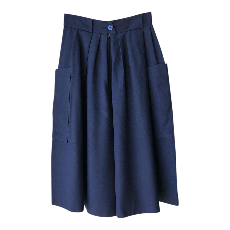 Jupe culotte bleu marine